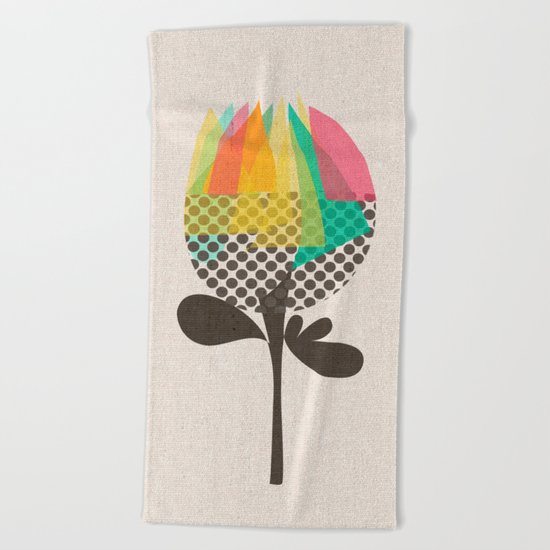 The Artichoke Beach Towel