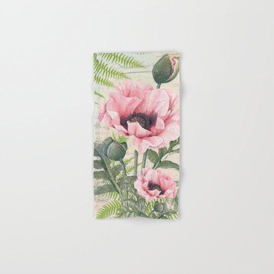 Vintage Flowers #24 Hand & Bath Towel