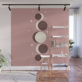 Moon Phases Wall Mural
