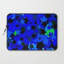 Punk Rock Stars Blue Laptop Sleeve