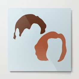 Mulder and Scully, X-Files Metal Print