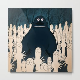 Groke, the moomins Metal Print