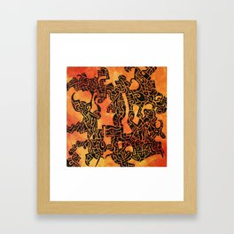 Orange Abstract Print Framed Art Print
