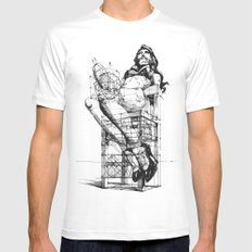 Love and Geometry MEDIUM Mens Fitted Tee White