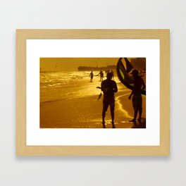 Kitesurfing Framed Art Print