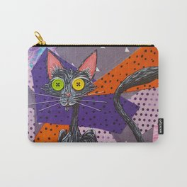 Buttons, The Patch Fabric Black Kitty Carry-All Pouch