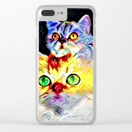 Cat Models: Timmy and Tommy Clear iPhone Case