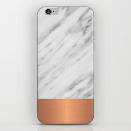 Carrara Italian Marble Holiday Rose Gold Edition iPhone Skin