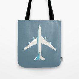 747-400 Jumbo Jet Airliner Aircraft - Slate Tote Bag