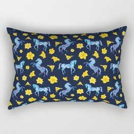 Precious blue horses Rectangular Pillow