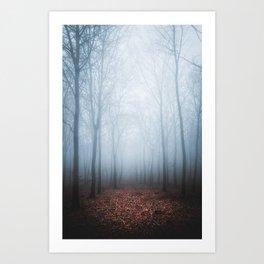 Blue Fog Art Print