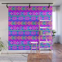 Colorful Mexican Aztec geometric pattern Wall Mural