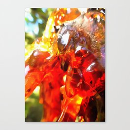 Apricot Resin Abstract Canvas Print