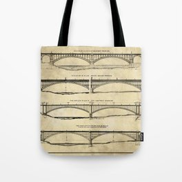 Washington Bridge Proposal Blueprint Plans Tote Bag