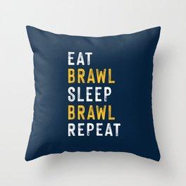 Eat, Brawl, Sleep, Brawl Repeat (Ver.2)   Brawl Stars Throw Pillow