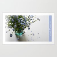 Blue in blue Art Print