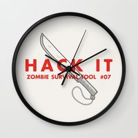 Hack it - Zombie Survival Tools Wall Clock