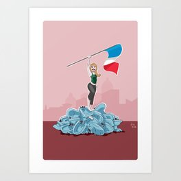 Victory over the bidets Art Print