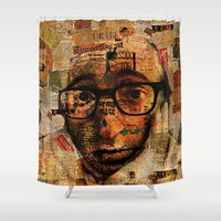 woody allen Shower Curtains featuring Woody A. by Ganech joe
