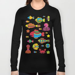 Stylize fantasy fishes under water Long Sleeve T-shirt