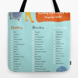 Planepack packing checklist Tote Bag