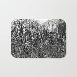 Winter Poetry of the Grasses Bath Mat
