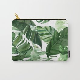 Green leaf watercolor pattern Carry-All Pouch