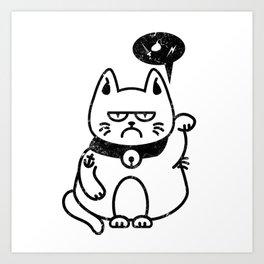 Grumpy Maneki Art Print