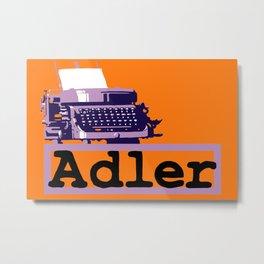 Adler Typewriter Metal Print