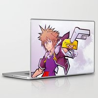 kingdom hearts Laptop & iPad Skins featuring Kingdom Hearts 2 - Sora by Outer Ring