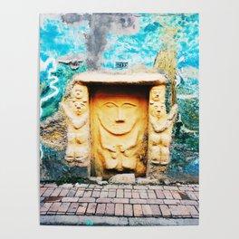 Sculptural door in Bogotá, Colombia Poster
