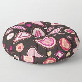 Pasley Burgundy Floor Pillow