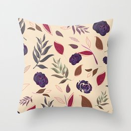 Simple and stylized flowers 19 Throw Pillow