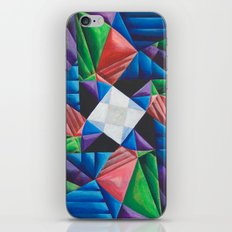 Square Pinwheel iPhone & iPod Skin