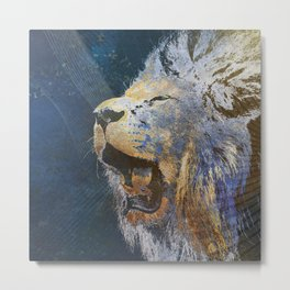 Beautiful colorful lion Metal Print