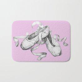 Ballet shoes pink Bath Mat