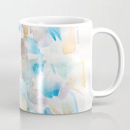 180713 Watercolour Blue Yellow 6   Watercolor Brush Strokes Coffee Mug