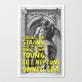 neptune haiku Canvas Print