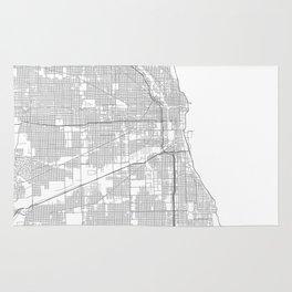 Chicago, United States Minimalist Map Rug