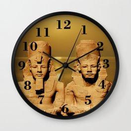 Ramesses and Nefertari Wall Clock