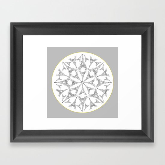 Paris in a Kaleidoscope Framed Art Print