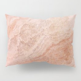Polished Rose Gold Marble Pillow Sham