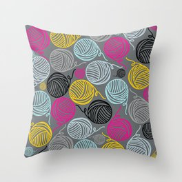 Yarn Yarn Yarn Yarn Yarn Throw Pillow