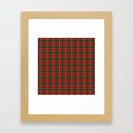 Christmas Plaid Pattern in Red and Green Framed Art Print