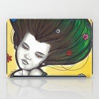 flora iPad Cases featuring Flora by Melanie Arias