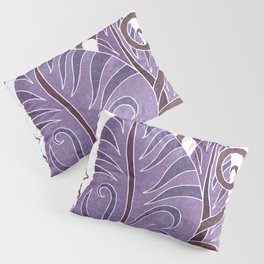 Leaf - Exotic Boho Leaf Pattern 02- Colorful, Modern, Tropical Art - Purple, Cosmic, Jagger Pillow Sham