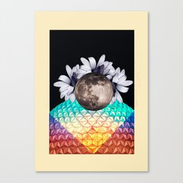 Beyond the moon and back Canvas Print