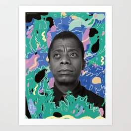 James Baldwin Art Print