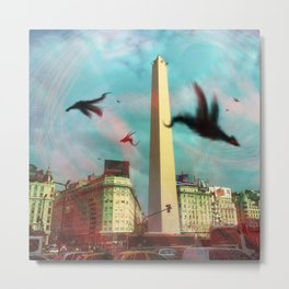 City of fury - Buenos Aires Obelisk Metal Print