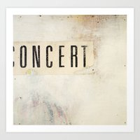 concert Art Prints featuring Concert by Mikey Rioux